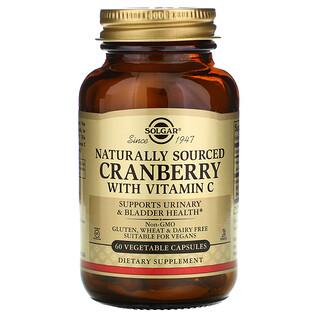 Solgar, Natural Cranberry with Vitamin C, 60 Vegetable Capsules