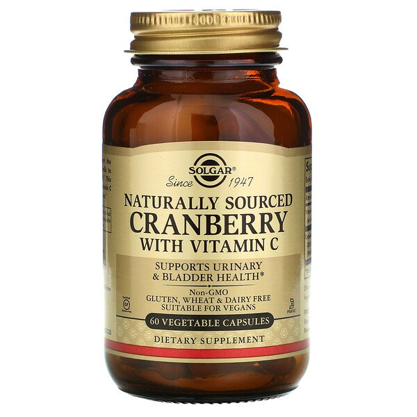 Natural Cranberry with Vitamin C, 60 Vegetable Capsules