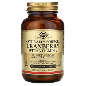Солгар, Natural Cranberry with Vitamin C, 60 Vegetable Capsules отзывы покупателей