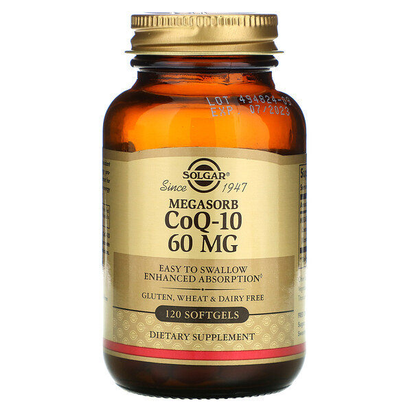 Megasorb CoQ-10, 60 mg, 120 Softgels