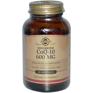 Solgar, CoQ-10 (Coenzyme Q-10), 600 mg, 30 Softgels