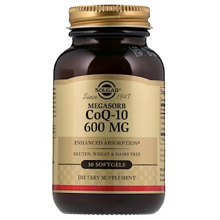 Solgar, Megasorb CoQ-10, 600 mg, 30 Softgels