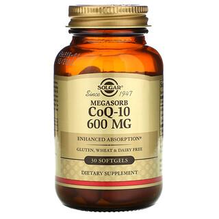 Solgar, Мегасорб с CoQ-10, 600 мг, 30 мягких желатиновых капсул