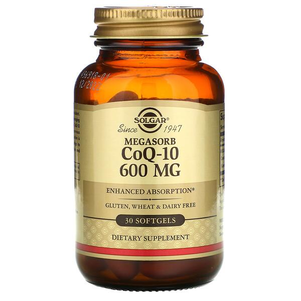 Мегасорб с CoQ-10, 600 мг, 30 мягких желатиновых капсул