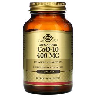 Solgar, Мегасорб с CoQ-10, 400 мг, 60 мягких желатиновых капсул