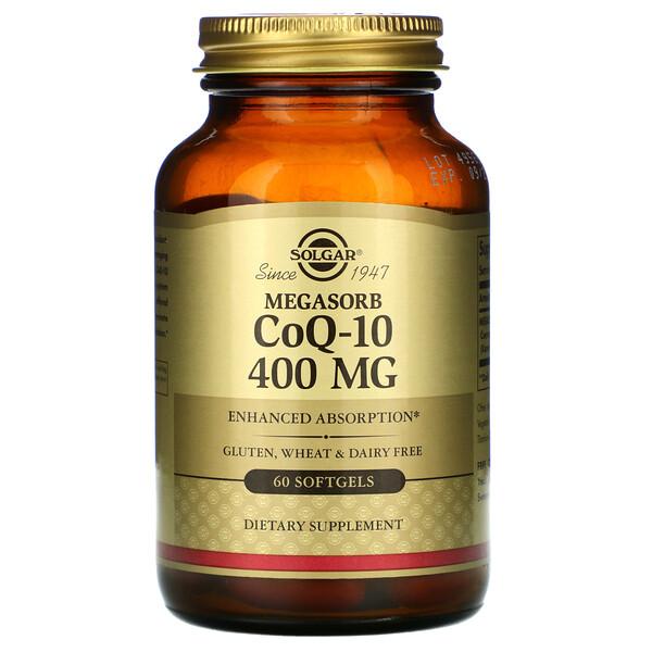 Megasorb CoQ-10, 400 mg, 60 Softgels