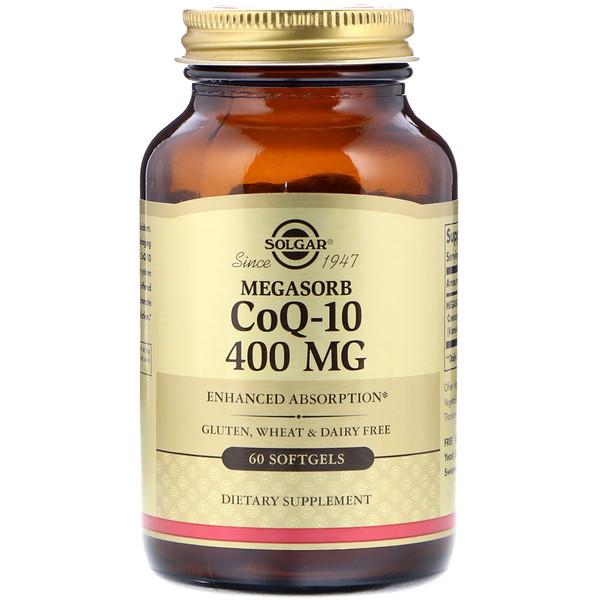 Solgar, Megasorb CoQ-10, 400 mg, 60 소프트젤