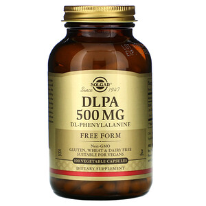 Солгар, DLPA, Free Form, 500 mg, 100 Vegetable Capsules отзывы покупателей