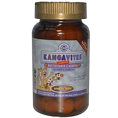 Solgar, Kangavites, Complete Multivitamin & Mineral Children's Formula, Berry Flavor, 120 Chewable Tablets