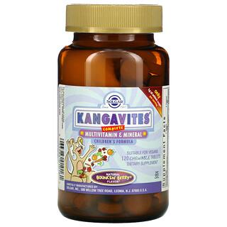 Solgar, Kangavites, Complete Multivitamin & Mineral Children's Formula, Bouncin' Berry , 120 Chewable Tablets