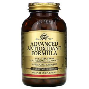 Солгар, Advanced Antioxidant Formula, 120 Vegetable Capsules отзывы покупателей