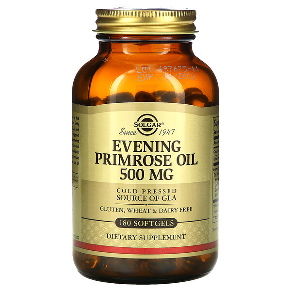 Evening Primrose Oil, 500 mg, 180 Softgels