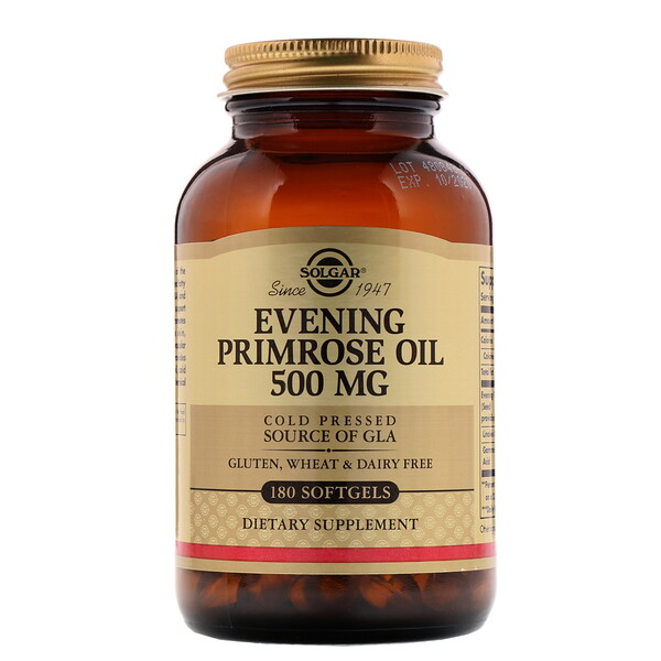 Solgar, Evening Primrose Oil, 500 mg, 180 Softgels
