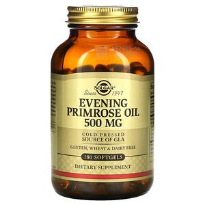 Солгар, Evening Primrose Oil, 500 mg, 180 Softgels отзывы покупателей