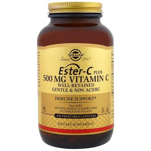 Solgar, Ester-C Plus, Vitamin C, 500 mg, 250 Vegetable Capsules