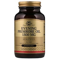 Масло вечерней примулы, 1300 мг,  60 мягких капсул - фото