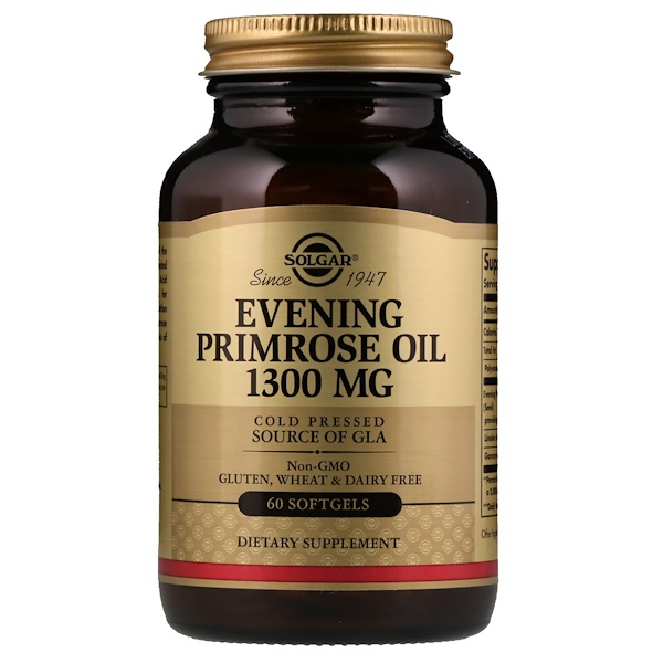 Solgar, Evening Primrose Oil, 1300mg, 60 Softgels