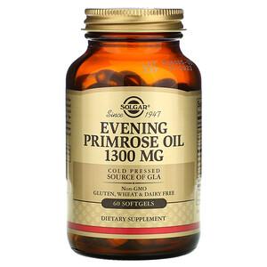 Солгар, Evening Primrose Oil, 1,300 mg,  60 Softgels отзывы покупателей