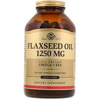 Льняное масло, 1250 мг, 250 гелевых капсул - фото