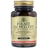 Solgar, Folate, 666 mcg DFE, 250 Tablets