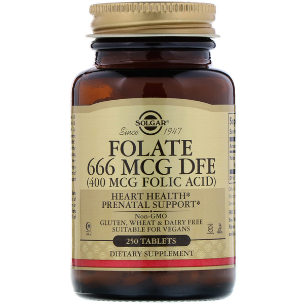 Folic Acid, 400 mcg, 250 Tablets