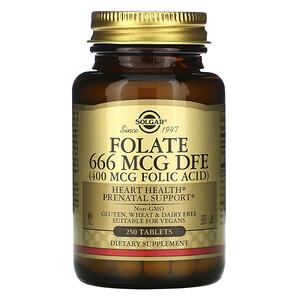 Солгар, Folate, 400 mcg, 250 Tablets отзывы