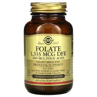 Solgar, Folate, 800 mcg, 250 Vegetable Capsules