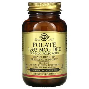Солгар, Folate, 800 mcg, 250 Vegetable Capsules отзывы покупателей