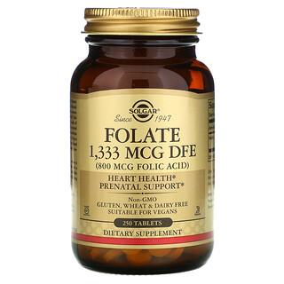Solgar, Folate, 1,333 mcg DFE, 250 Tablets
