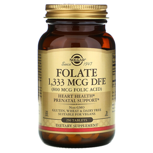 Folate, 1,333 mcg DFE, 250 Tablets