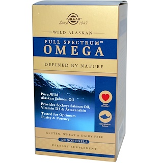 Solgar, Full Spectrum Omega, Wild Alaskan, 120 Softgels