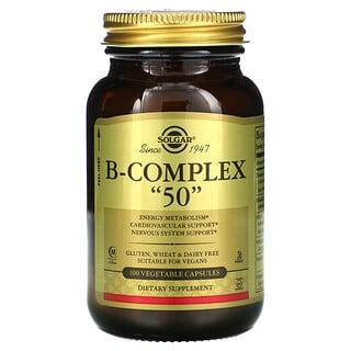 """Solgar, B-Complex """"50"""", 100 Vegetable Capsules"""
