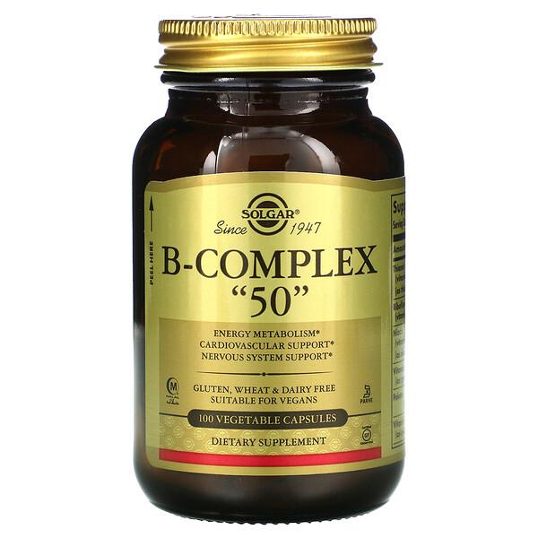"""B-Complex """"50"""", 100 Vegetable Capsules"""