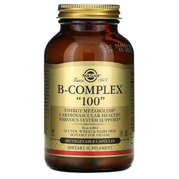 Solgar, комплекс витаминов группыB «100», 100растительных капсул