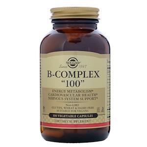 """Solgar, B-комплекс """"100"""", 100 растительных капсул"""