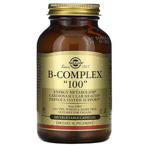 Солгар, B-Complex «100», 100 Vegetable Capsules отзывы покупателей
