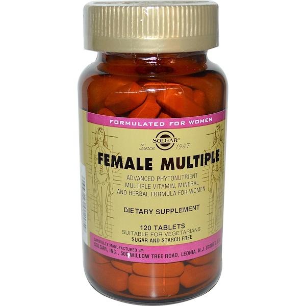 Solgar, Female Multiple, 120 Tablets (Discontinued Item)