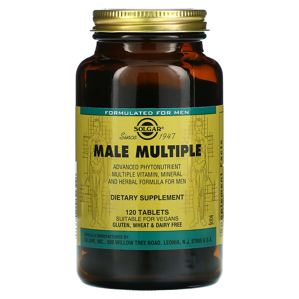 Solgar, Multisuplemento para hombres, 120comprimidos