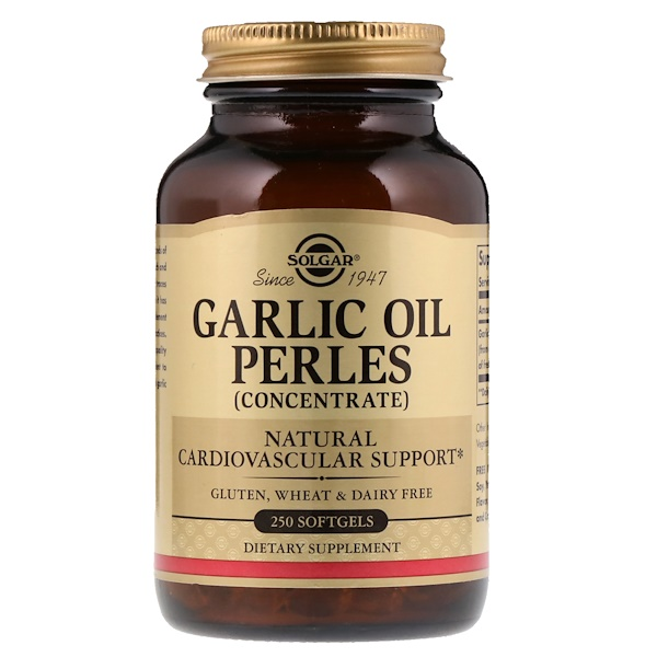 Solgar, Garlic Oil Perles Concentrate, 250 Softgels