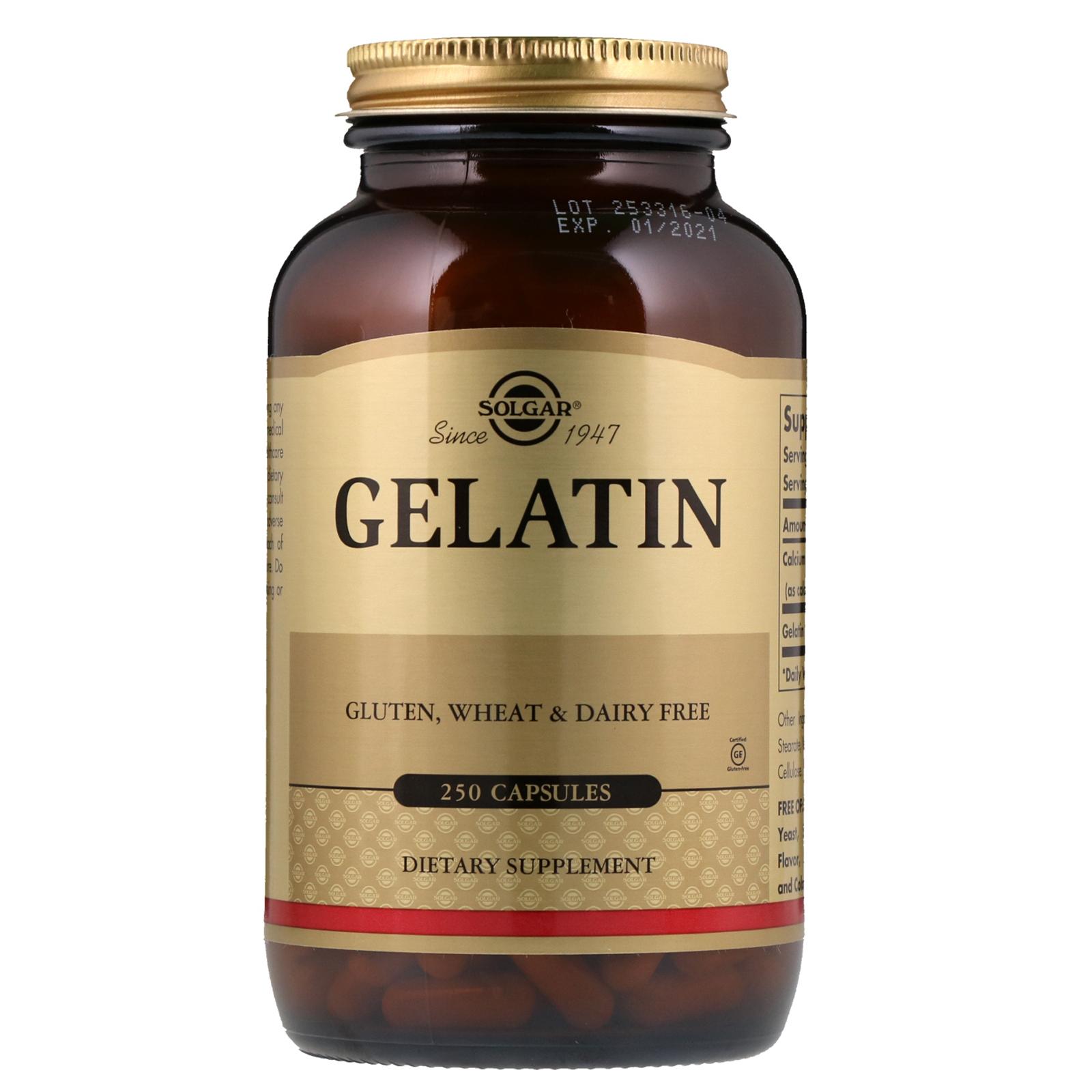 Solgar, Gelatin, 12 Capsules