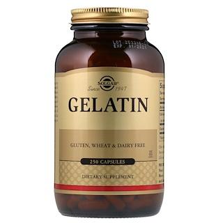 Solgar, Натуральный желатин с карбонатом кальция, 250 капсул