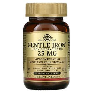 Solgar, Gentle Iron, 25 mg, 90 Vegetable Capsules