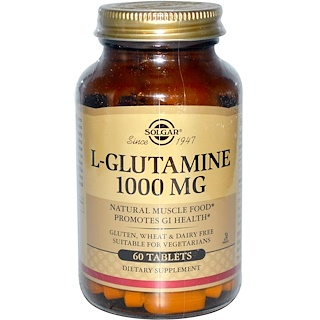 Solgar, L-Glutamine, 1000 mg, 60 Tablets