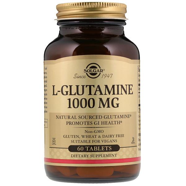 Solgar, L-Glutamine, 1000 mg, 60 Comprimés