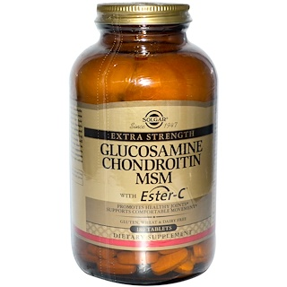 Solgar, 글루코사민 콘드로이틴 MSM 포함  에스터-C, 180 정제