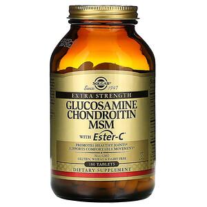 Солгар, Glucosamine Chondroitin MSM with Ester-C, 180 Tablets отзывы покупателей