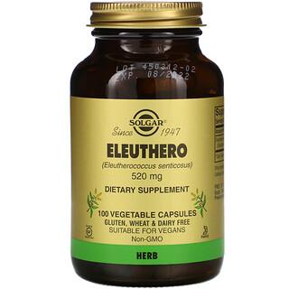 Solgar, Eleuthero, 520 mg, 100 Vegetable Capsules