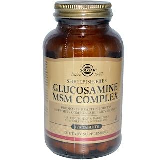 Solgar, グルコサミン MSM複合体, 120 錠