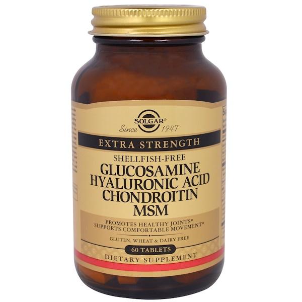 Solgar, Glucosamine Hyaluronic Acid Chondroitin MSM, 60 Tablets