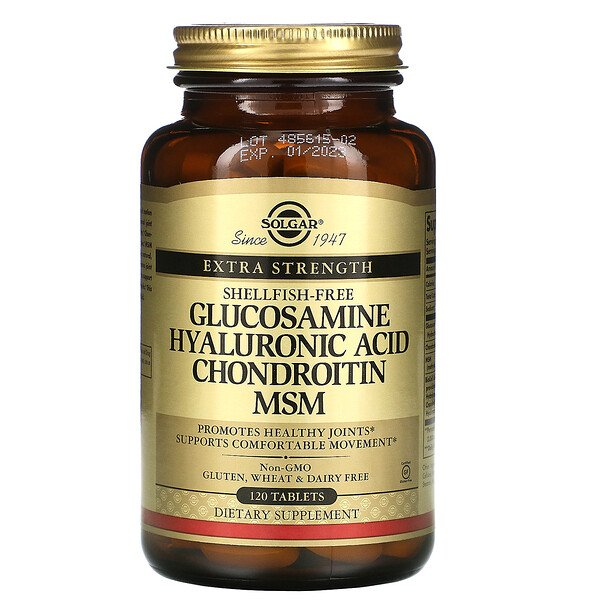 Solgar, Glucosamine Hyaluronic Acid Chondroitin MSM, 120 Tablets